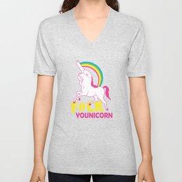 unicorn f#ck Unisex V-Neck