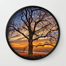 Winter Cottonwood Wall Clock