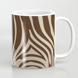 Zebra Stripes | Animal Print | Chocolate Brown and Beige | Coffee Mug