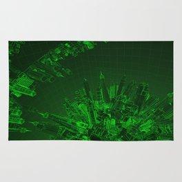Future City Green Rug