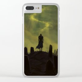 Dying alone Clear iPhone Case
