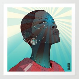 Afro Android Art Print