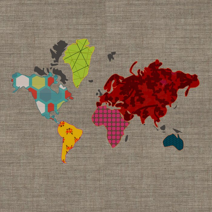 Simi's Map of the World Duvet Cover