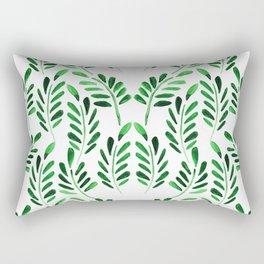 Boho green watercolor leafs Rectangular Pillow