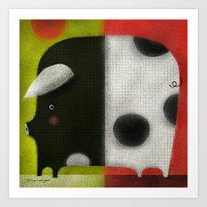 SPLIT PIG Art Print