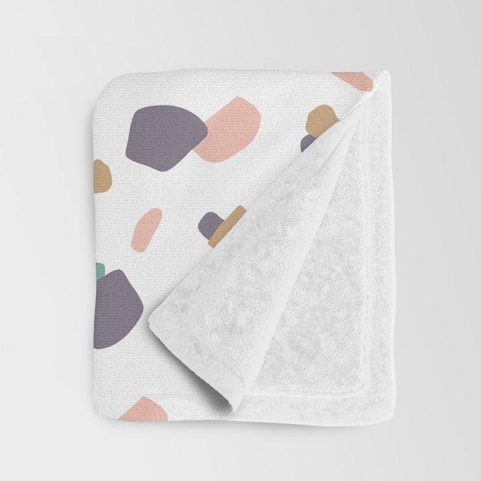 Pastel Terrazzo Throw Blanket
