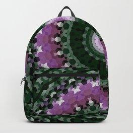green mandala, kaleidoscope, green, mandala, green and purple, ethnic Backpack