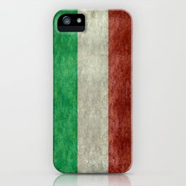 Flag of Italy, Vintage Retro Style iPhone Case