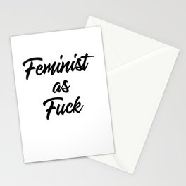 Feminist as Fuck Stationery Cards