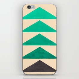 Colorful Turquoise Green Geometric Pattern with Black Accent iPhone Skin