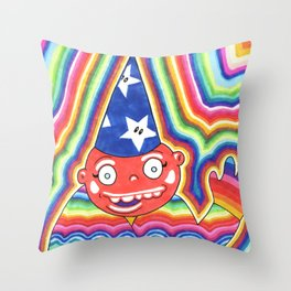 Rainbow Wizard Throw Pillow