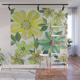 Scattered Flowers Wall Mural