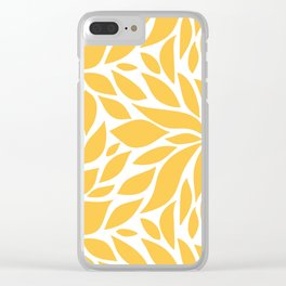 Bloom - Butterscotch Clear iPhone Case