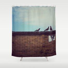 Birds Up Top Shower Curtain