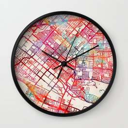 La Puente map California CA Wall Clock