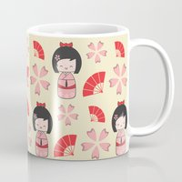 mini Mugs featuring Mini Geisha by Vickn