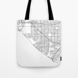 Minimal City Maps - Map Of Huntington Beach, California, United States Tote Bag