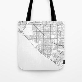 Minimal City Maps - Map Of Huntington Beach, California, United States Tote Bag