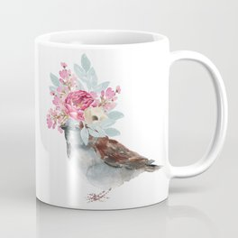Boho Chic wild bird With Flower Crown Coffee Mug