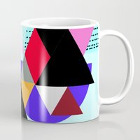 decal Mugs featuring geometric pattern by haroulita