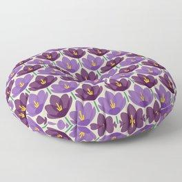 Crocus Flower Floor Pillow