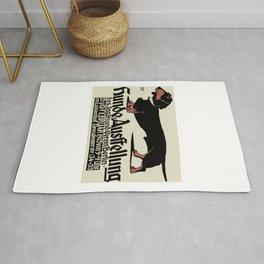 1905 German Dog Show Dachshund Poster Rug