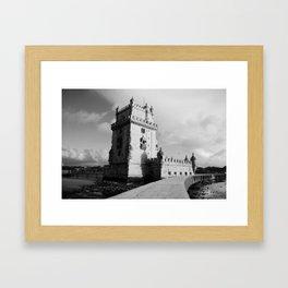 Belem Tower in Lisbon Framed Art Print