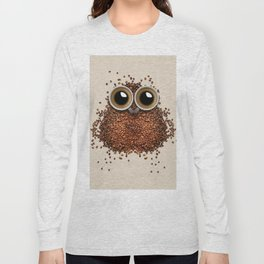 Coffee Bean Beans owl Long Sleeve T-shirt