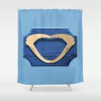 shark Shower Curtains featuring Shark! by DWatson
