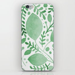 Branches and leaves - green iPhone Skin