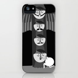 If Hitler made a Totem pole, I think it would of looked a little like this... iPhone Case