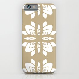 Summer Flowers Golden Beige iPhone Case