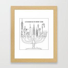 Chanukah in New York Framed Art Print