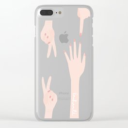 Hands to yourself Clear iPhone Case