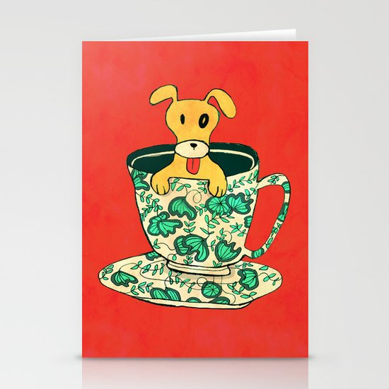 Dinnerware Sets - puppy in a teacup Stationery Cards