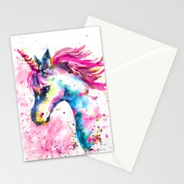 Pink Unicorn Stationery Cards