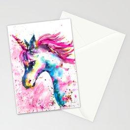 Pink Unicorn Stationery Cards