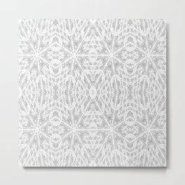 Pattern Grey / Gray Metal Print