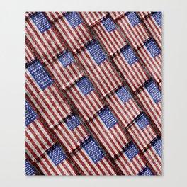 Usa Flag Grunge Pattern Canvas Print