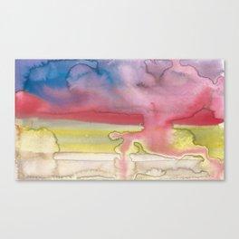 Cloudscape #1 Vermillion Canvas Print
