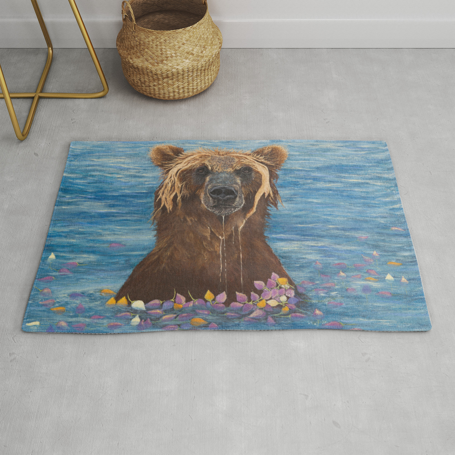 Elsa Washing My Worries Away Rug By Vaneliba