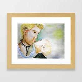 Mutter mit Kind, Mother and Child Framed Art Print