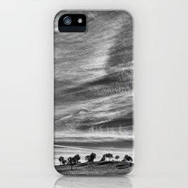 Hilltop - Black & White iPhone Case