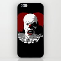pennywise iPhone & iPod Skins featuring IT by PsychoBudgie