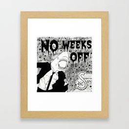 Shark Biz Framed Art Print