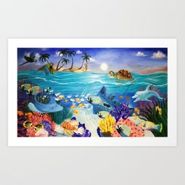 Cayman Islands Reef Adventure Art Print