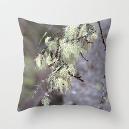 Watercolor Tree Limb Spanish Moss, Mystic Forest Throw Pillow