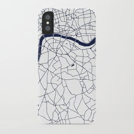 London White on Navy Street Map iPhone Case