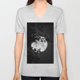Full Moon Leaves Unisex V-Neck