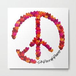 A Piece of Peace - Heart Metal Print